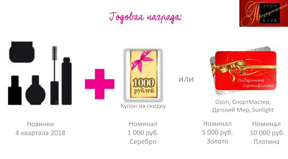 награда эйвон президентский клуб клуб